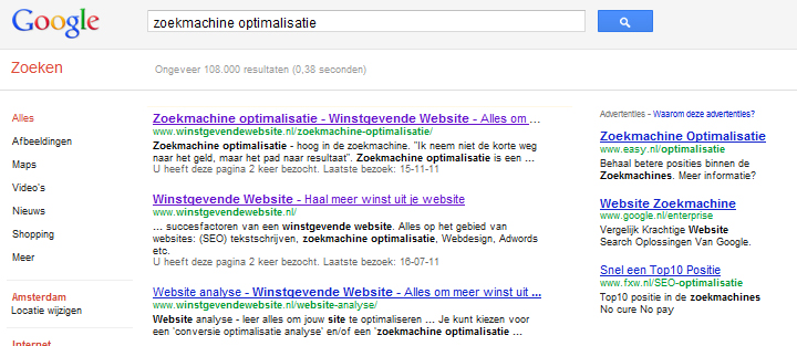 duidelijke pagina's bij zoekmachine optimalisatie